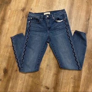 Gap 1969 True Skinny Embroidered Jeans Size 26